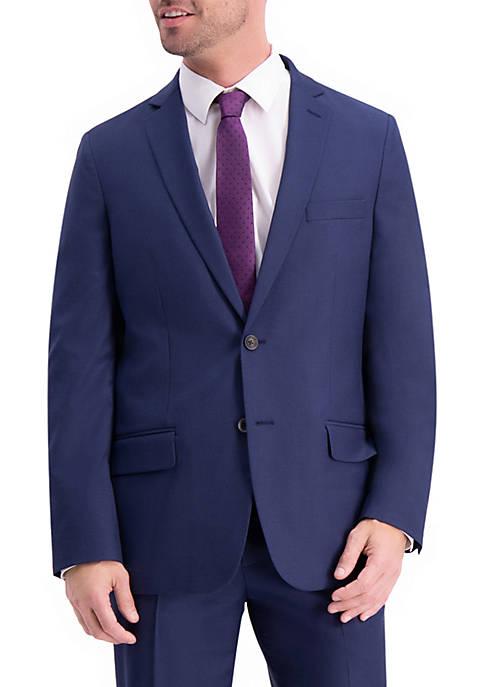 Textured Weave Slim Fit Suit Coat