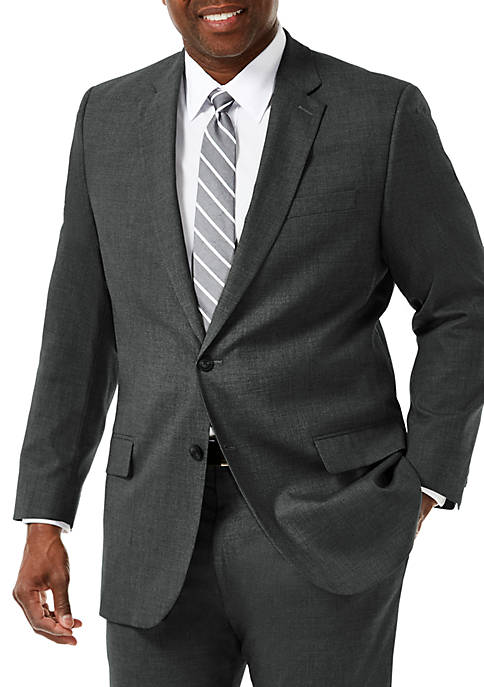 Haggar® Big & Tall Stretch Sharkskin Classic Fit