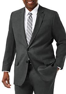 Haggar® Big & Tall Stretch Sharkskin Classic Fit Suit Coat