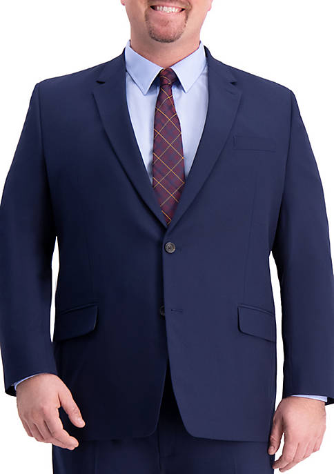 Big & Tall 4 Way Stretch Solid Gab Classic Fit Suit Separate Coat
