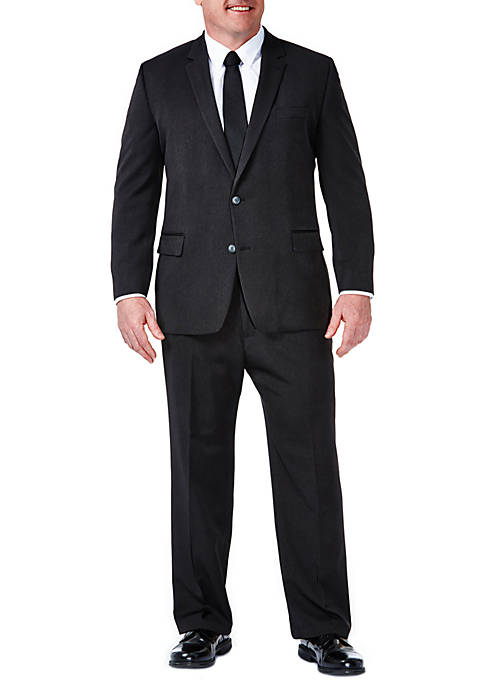 Haggar® B&T Travel Performance Heather Pinstripe Classic Fit