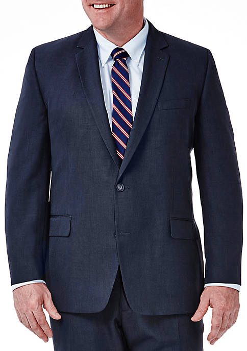 Big & Tall Travel Performance Classic Fit Tic Weave Suit Coat