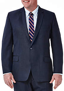 Haggar® Big & Tall Travel Performance Classic Fit Tic Weave Suit Coat