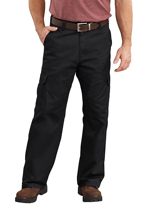 Mens Loose Fit Straight Leg Cargo Pants