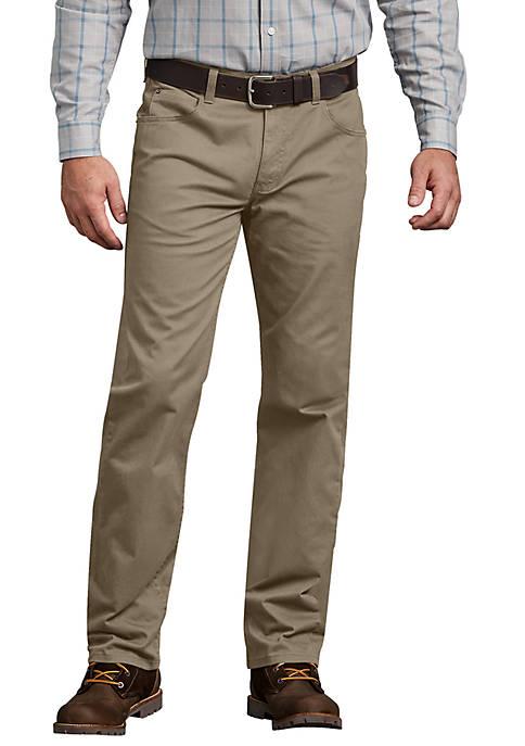 Dickies® Mens Regular Straight Flex 5 Pocket Pants