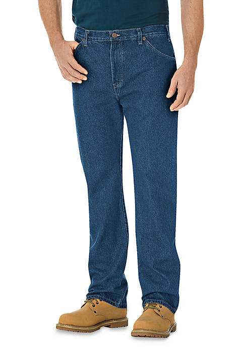Dickies® Regular Fit 6 Pocket Straight Leg Jeans
