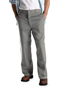 286276ac33e ... Dickies® Loose Fit Double Knee Flat Front Non-Iron Pants