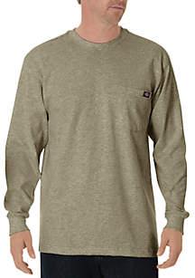 Big & Tall Long Sleeve Heavyweight Crew Neck T-Shirt