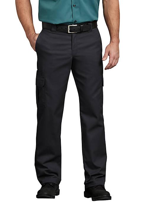 Mens Flex Regular Fit Straight Leg Cargo Pants