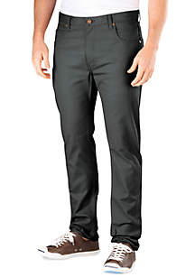 Slim Fit 5-Pocket Flat Front Pants