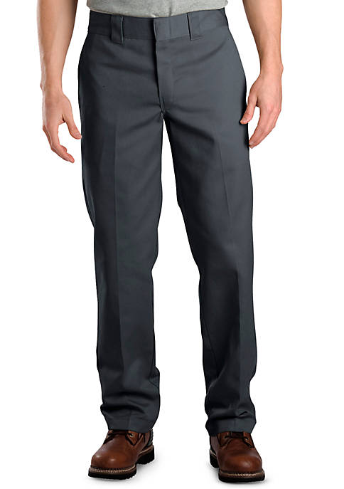 Dickies® Slim Fit Work Flat Front Pants
