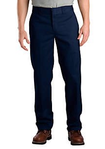 Slim-Fit Work Flat-Front Wrinkle-Resistant Pants