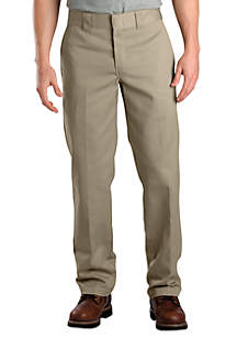Slim Fit Work Flat Front Wrinkle Resistant Pants