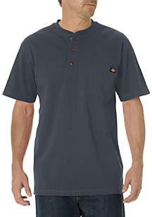 Short Sleeve Heavyweight Henley Shirt