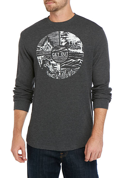 Long Sleeve Graphic Thermal T Shirt