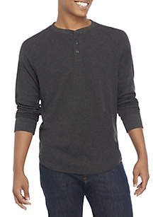 Long Sleeve Thermal Henley Shirt