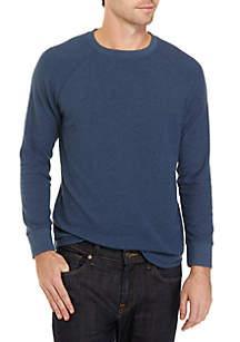 Long Sleeve Raglan Thermal Crew Neck Shirt