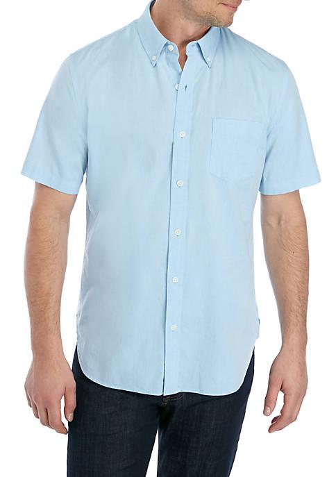 Short Sleeve Stretch Poplin Shirt