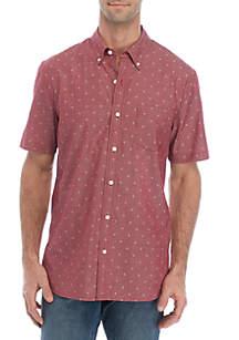 TRUE CRAFT Short Sleeve Printed Poplin Shirt