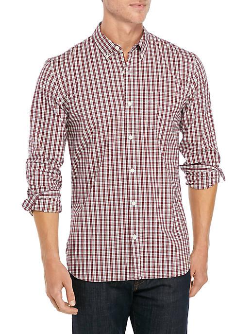 Long Sleeve Plaid Woven Shirt