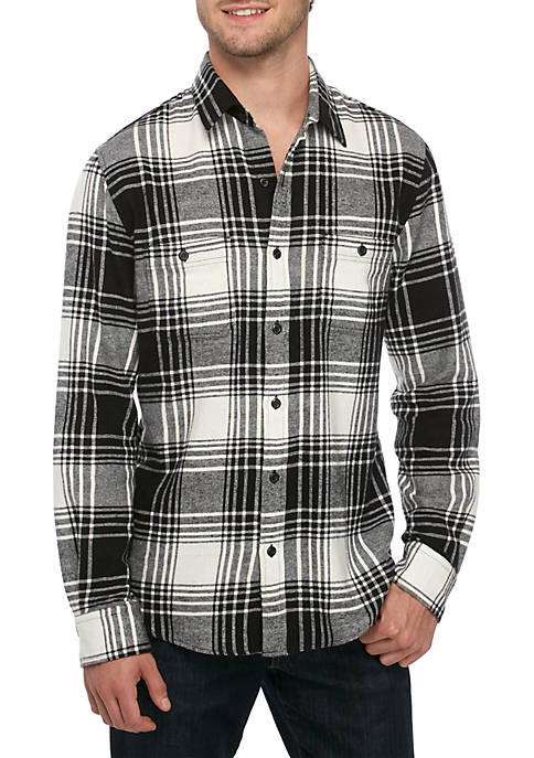 Long Sleeve 2 Pocket Flannel Shirt
