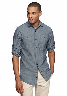Red Camel® Chambray 2-Pocket Woven Shirt