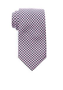 Textured Plaid Necktie