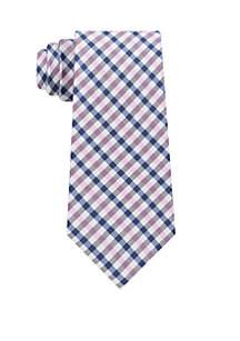 Mini Plaid Neck Tie