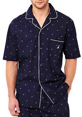 52f4591d3b Nautica J Class Printed Cotton Sleep Shirt ...