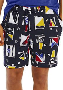 Nautica Signal Flag Motif Pajama Shorts