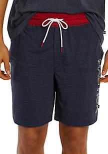 Nautica Logo Space Dye Drawstring Pajama Shorts