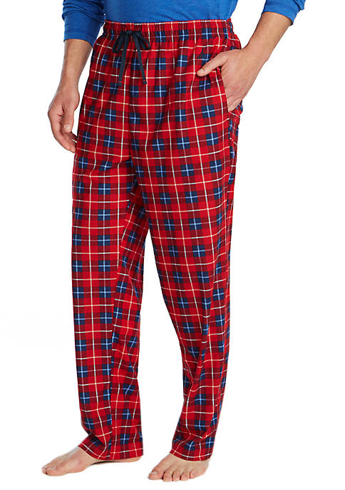 Nautica Cozy Fleece Plaid Sleep Pants