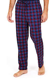 Cozy Fleece Plaid Pants