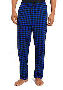 Cozy Fleece Gingham Pants