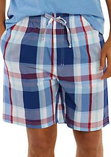 Nautica Woven Plaid Pajama Shorts
