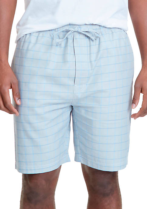 Nautica Herringbone Plaid Sleep Shorts