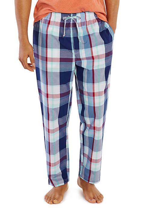 Plaid Drawstring Pajama Pants
