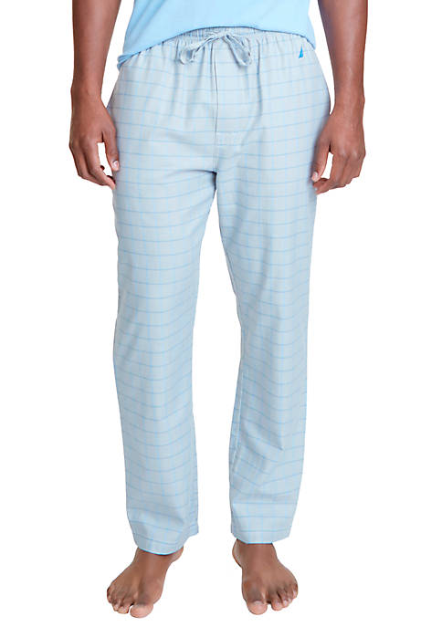 Nautica Herringbone Plaid Sleep Pants