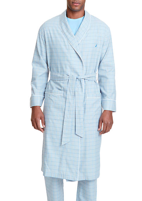 Nautica Herringbone Plaid Robe