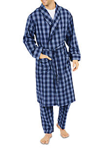 Buffalo Plaid Shawl Collar Robe