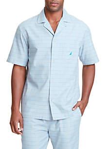 Herringbone and Plaid Sleep Shirt