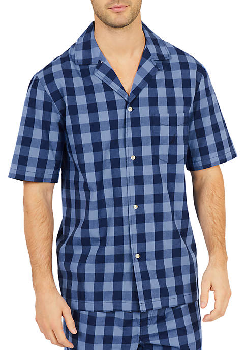 Nautica Buffalo Plaid Short Sleeve Pajama Shirt