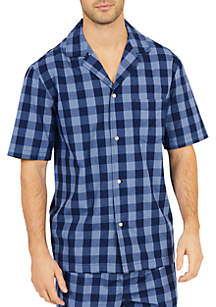 ... Nautica Buffalo Plaid Short Sleeve Pajama Shirt 0aadf7f0a