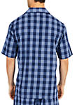 Buffalo Plaid Short Sleeve Pajama Shirt