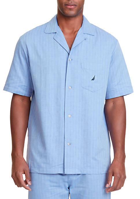 Nautica Herringbone Sleep Shirt