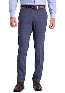 Kenneth Cole Reaction Stretch Bold Plaid Slim Fit Flat Front Dress Pants