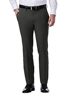 Tic Slim Fit Flat Front Flex Waistband Dress Pants