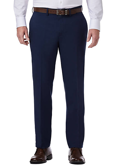 Techni-Cole Performance Stretch Slim Fit Flat Front Dress Pants