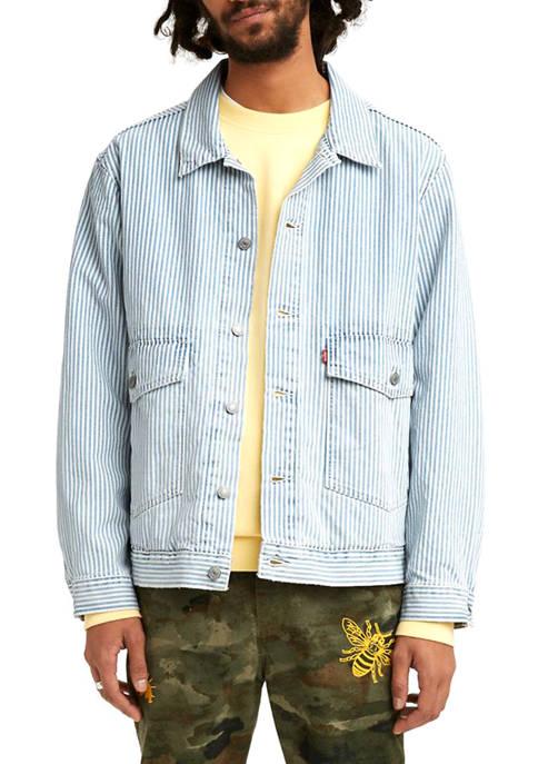 Levi's® At Work Railroad Stripe Trucker Jacket