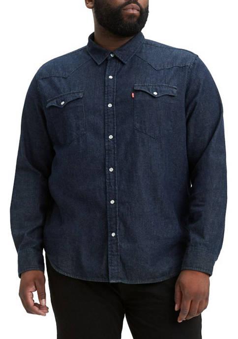 Big & Tall Long Sleeve Chest Pocket Button Down Shirt